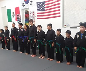 kids in elgin martial arts class